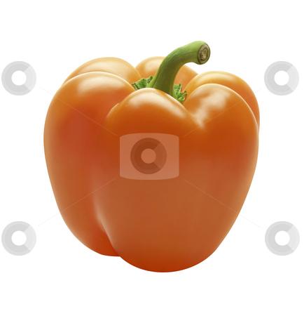 Orange Bell Pepper stock photo, Orange Bell Pepper isolated on a white background by Danny Smythe