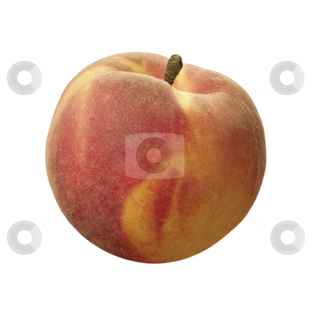 Peach stock photo, Peach isolated on a white background by Danny Smythe