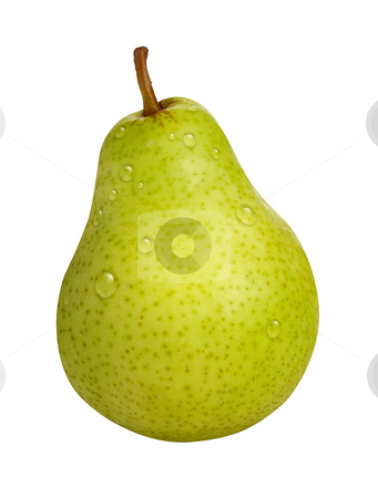 Pear stock photo, Pear isolated on a white background by Danny Smythe