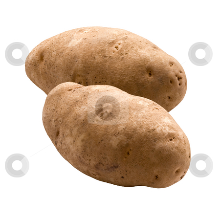 Potatoes stock photo, Potatoes isolated on a white background by Danny Smythe