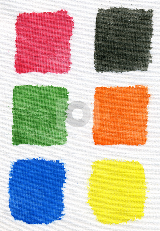 Testing watercolor paints on an artists canvas. stock photo, Testing watercolor paints on an artists canvas. by Stephen Rees