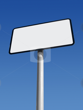White sign with space for text. stock photo, White sign with space for text. by Stephen Rees