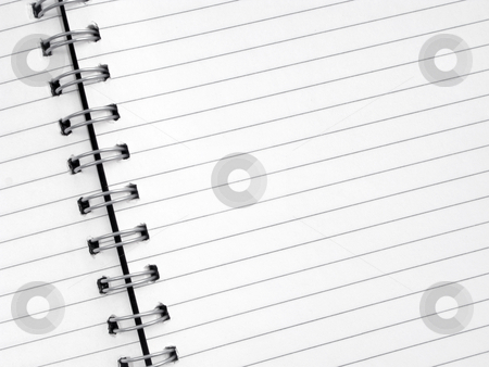 Close up of lined paper in a spiral notepad. stock photo, Close up of lined paper in a spiral notepad. by Stephen Rees