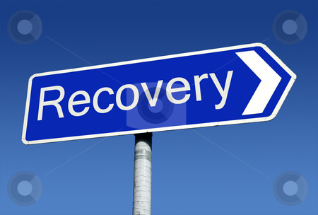 Signpost along the road to recovery. stock photo, Signpost along the road to recovery. by Stephen Rees
