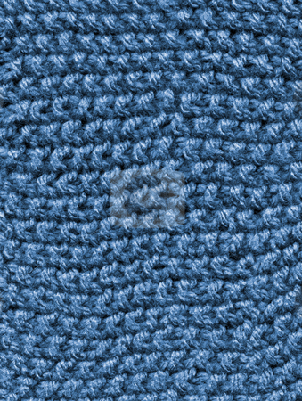 Blue knitted wool close up abstract texture background. stock photo, Blue knitted wool close up abstract texture background. by Stephen Rees