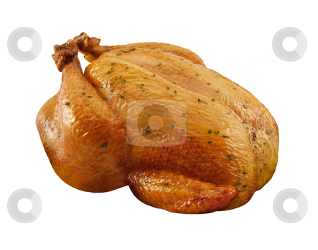 Roasted Chicken stock photo, Roasted Chicken isolated on a white background with a clipping path by Danny Smythe