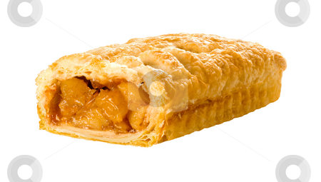 Apple Strudel stock photo, Apple Strudel isolated on a white background by Danny Smythe
