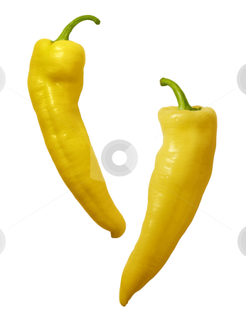 Yellow Hot Peppers stock photo, Yellow Hot Peppers isolated on a white background by Danny Smythe