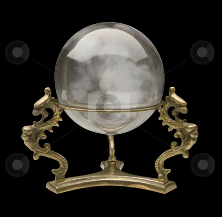 Crystal Ball stock photo, Crystal Ball isolated on a black background by Danny Smythe