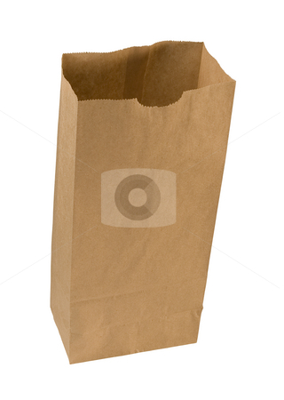 Paper Sack stock photo, Paper Sack isolated on a white background by Danny Smythe