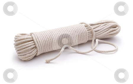 Rope Cord Unravelled stock photo, Rope Cord Unravelled on a white background by Danny Smythe