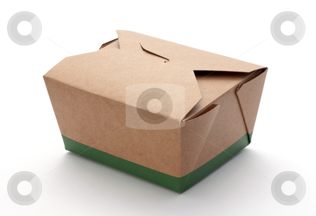 Take-Out Box stock photo, Take-Out Box isolated on a white background by Danny Smythe