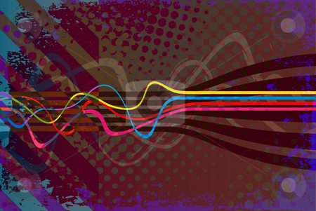 Vintage Grunge Layout stock photo, Abstract vintage looking layout with wavy lines. by Todd Arena