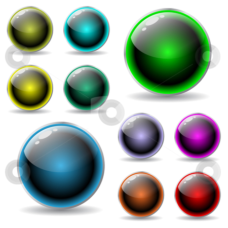 Shiny buttons reflect light stock vector clipart,  by Mihaly Pal Fazakas
