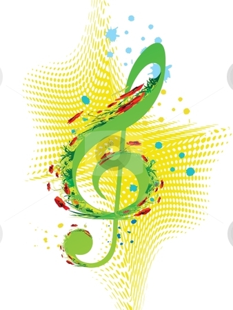 Spring music stock vector clipart, Spring music vector by Milsi Art