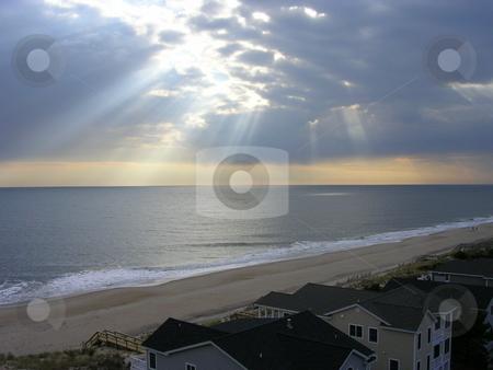 Broken Sunlight stock photo, Morning in Bethany Beach by Jo Herman