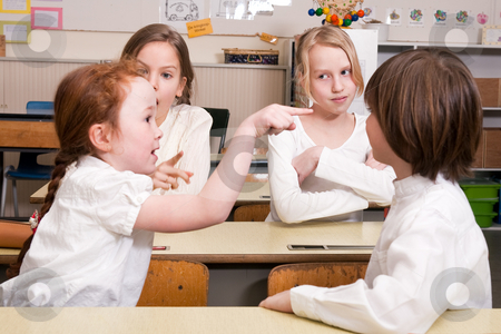 You did it stock photo, Group of little students with different ages in a classroom by Frenk and Danielle Kaufmann