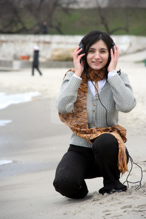 Music and life stock photo, The girl listens to music and dances by Aleksandr GAvrilov