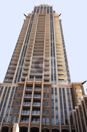 Tall condo high rise. stock photo, Very nice looking high rise condominium in the city of Mississauga. by Horst Petzold