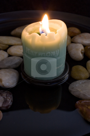 Harmony Candle stock photo, Lit