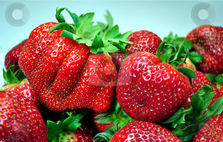 Fresh strawberries stock photo, Close up of fresh, colorful, tasty, strawberries by Fernando Barozza