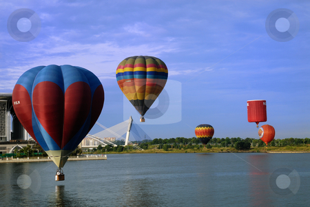 Royal Fun Fly Hot Air Balloon stock photo, Putrajaya International Hot Air Balloon Fiesta 2009 by Mohamad Shahrol Azmi Bin Osman