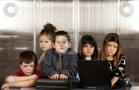 Business Kids stock photo, Kids posing as a professional business team by Scott Griessel