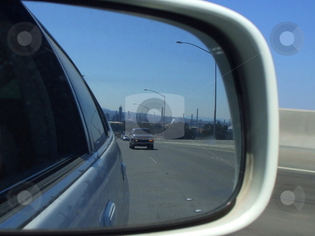 Side Mirror View stock photo,  by Michael Felix