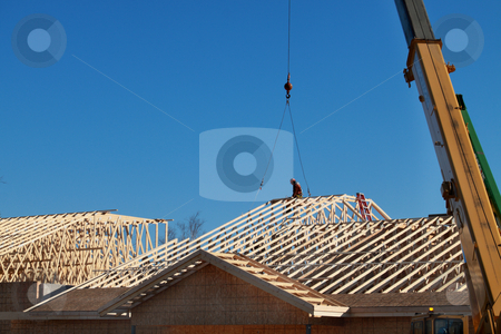 Residential Construction stock photo, New residential construction by R Deron