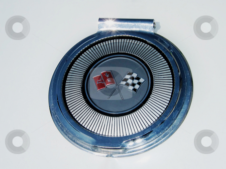 1963 Corvette Gas Cap Cover stock photo, Original Gas Cap Cover on rear of a 1963 Corvette Sting Ray. by Dazz Lee Photography
