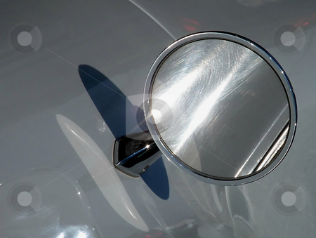 Side Mirror on 1963 Corvette stock photo, Side Mirror on 1963 Corvette Sting Ray by Dazz Lee Photography