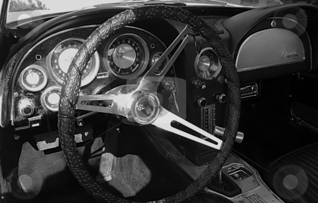 Dashboard in 1963 Corvette Sting Ray stock photo, Dashboard by Dazz Lee Photography