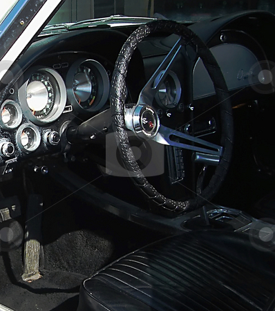 Drive Me stock photo, Looking inside a 1963 Corvette Sting Ray. No Digital Gauges or computer screens in this classic gem! by Dazz Lee Photography