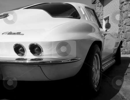 1963 Corvette Sting Ray stock photo, Rear View of a 1963 Corvette Sting Ray by Dazz Lee Photography