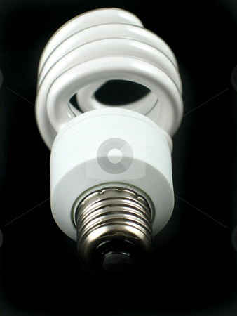 Modern bulb stock photo, Modern fluorescent bulb for low cost energy by Albert Lozano