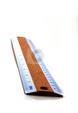 Ruler stock photo, Stock pictures of a ruler used to measure length and distance in inches and centimeters by Albert Lozano