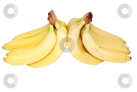 Banana stock photo, Bunch on bananas isolated on white background by Jolanta Dabrowska