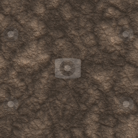 Brown mud pattern  stock photo, Texture of dry brown structured mud or clay by Wino Evertz