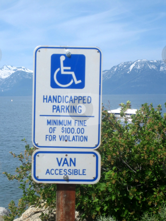Parking stock photo, Pictures of handicapped plaque parking by Albert Lozano