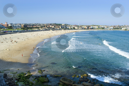 Bondi beach stock photo, Sun and sand, bondi beach in Sydney, Australia by Stephen Gibson