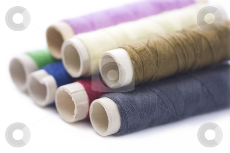 Sewing items stock photo, Several threads for sewing by Paulo Resende