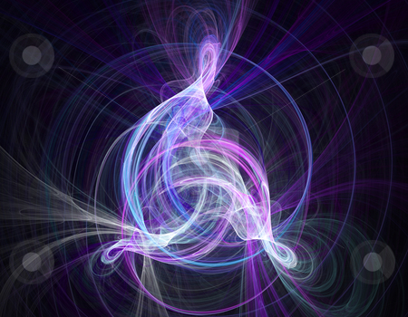Abstract fractal glowing curve stock photo, Abstract fractal illustration of a glowing curve by Natalia Macheda