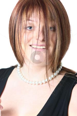 Redhead close-up portrait stock photo, Close-up portrait of a readhead funny woman by Natalia Macheda