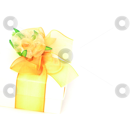 Gift box decoration stock photo, High-key gift box with beautiful decoration left to copy-space by Natalia Macheda