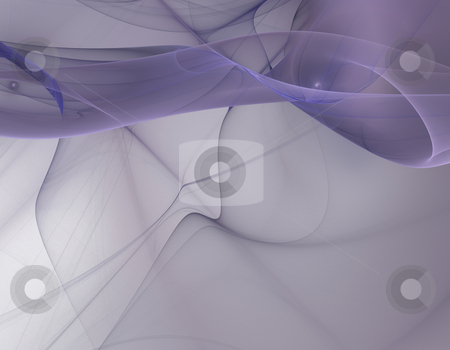 Fractal smoke stock photo, Computer-generated fractal illustration of smoky curves by Natalia Macheda