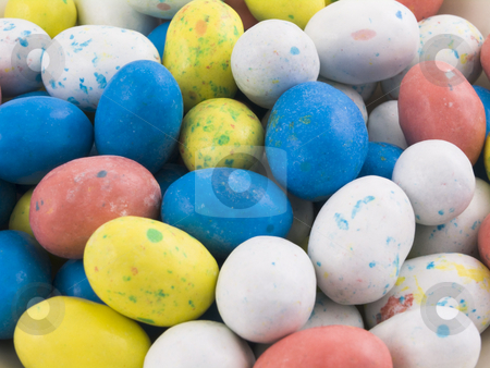 Candy Easter Eggs stock photo, Many Candy Easter Eggs with multi colors by John Teeter