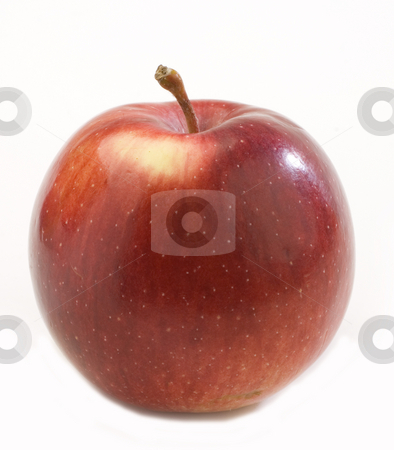 Apple stock photo, Fresh red apple isolated on white background by Jonathan Hull