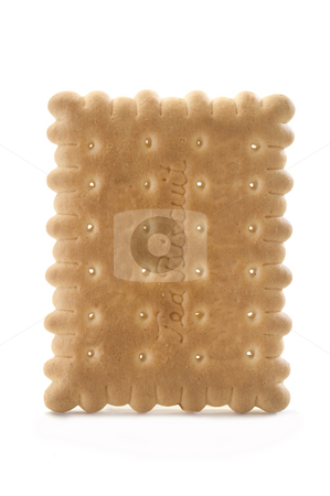 Tea biscuit stock photo, Tea biscuit isolated on a white background by Jonathan Hull