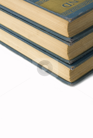 Text books stock photo, Text books stacked up on a white background by Jonathan Hull