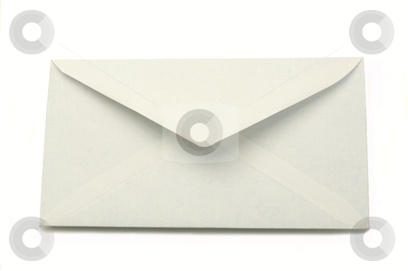 Envelope stock photo, White envelope isolated on a white background by Jonathan Hull